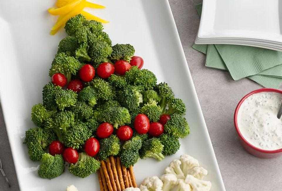 kerstboom van groenten