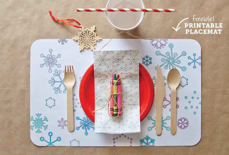 zelfplacemats maken kind kerst