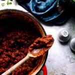 Vegetarische bolognese met linzen