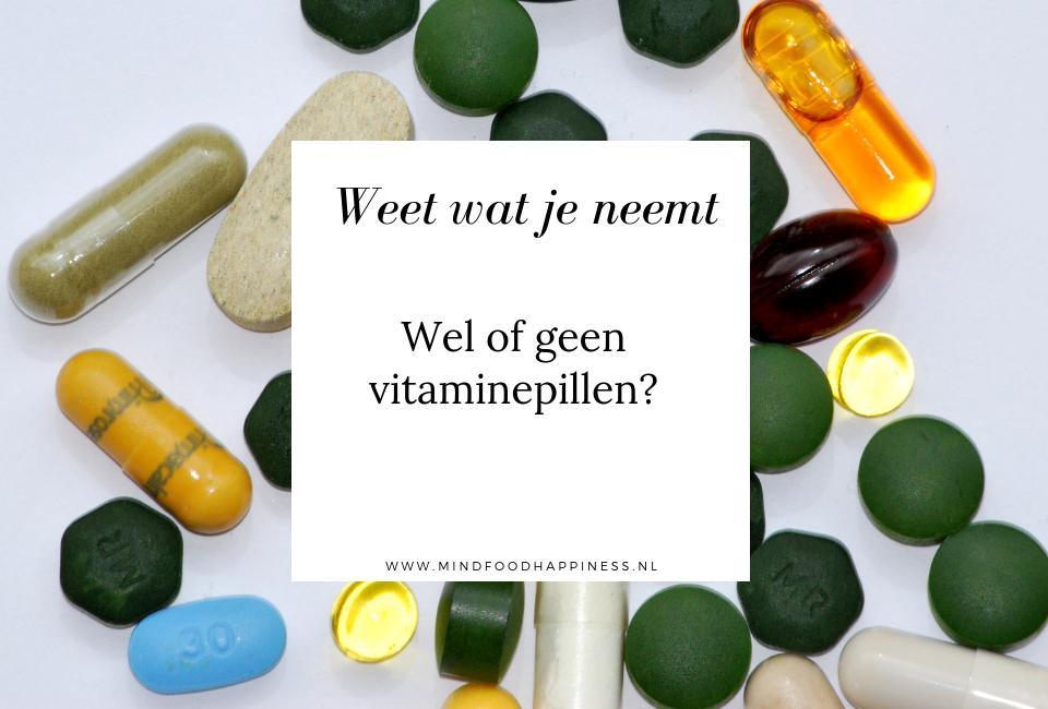 Wel of geen vitaminepillen