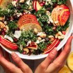 Vegan Ceasar salade met boerenkool