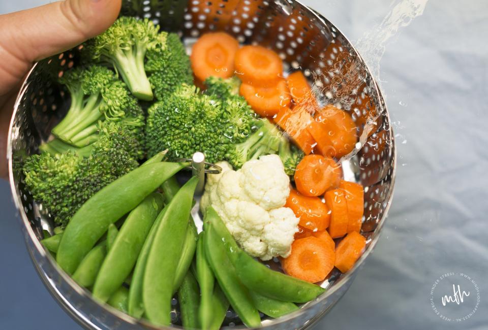 Gemengde groenten broccoli, bloemkool en wortel
