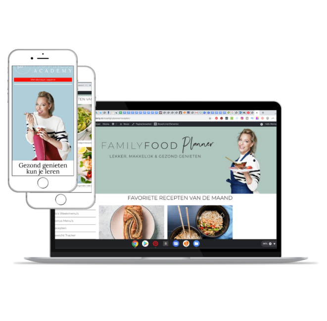Familyfood Planner op laptop