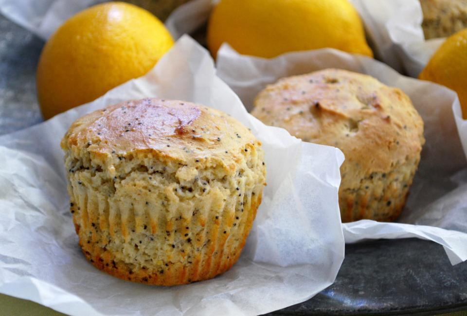 citroen poppy muffins